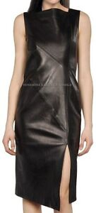Spring Designer Lamb New Leather Women Dress Cocktail Stylish Party Wear  D-050