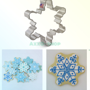Winter Snowflake Cookie Cutter - 4.25 Inches - Ann Clark - US Tin Plated Steel