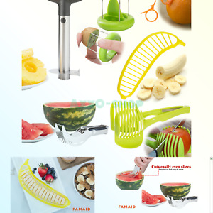 Fruit Slicer Peeler Set Of 6 - Stainless Steel Pineapple Corer Watermelon Sl...