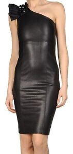 Spring Designer Lamb New Leather Women Dress Cocktail Stylish Party Wear  D-186