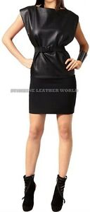 Spring Designer Lamb New Leather Women Dress Cocktail Stylish Party Wear  D-041
