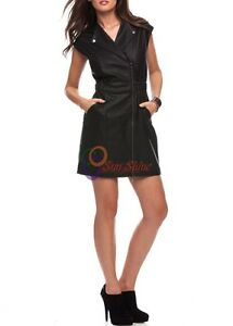 Spring Designer Lamb New Leather Women Dress Cocktail Stylish Party Wear  D-168