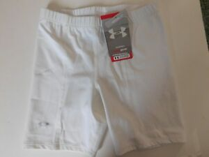 SM White Under Armour Womens Compression shorts New Old Stock New With tags