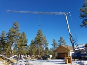 2006 Benazzato Self-Erecting Tower Crane - Self Contained - Tow with goose neck