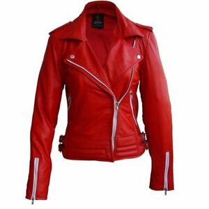 Plus Size Leather Jacket Brando Design In Red L-3XL