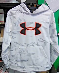 Under Armour Boy's Camo SnowStealth Gray Hoodie Size YLG Ridge Reaper