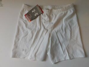 Large White Under Armour Womens Compression shorts New Old Stock New With tags