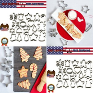 StarPack Christmas Cookie Cutters Set 18 Piece for Favorite Holiday Shapes Man