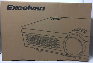 Excelvan 3300 Lumens HD Multimedia Home Theater Projector Support 1080P  MC3-T1