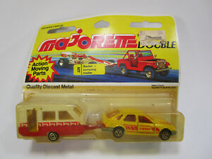 Vintage Majorette #272? Ford Sierra with camping trailer 325 still in packaging