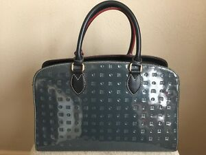 Arcadia Made in Italy Black Patent Leather Large Satchel Shoulder Hand Bag