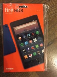 All New Amazon Kindle Fire HD 8 Tablet 16 GB 2018 8th Gen. Hands Free. Blue