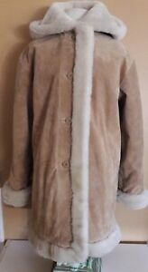 Wilson leather jacket women suede hoodie faux fur size medium  large