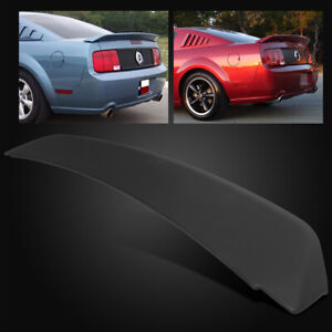 For 05-09 Ford Mustang GT500 Duck Tail Style Matte Black Rear Trunk Spoiler Wing
