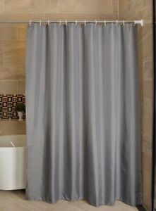 Gray Polyester Bathroom Waterproof Mold Resistant Anti-bacterial Shower Curtains