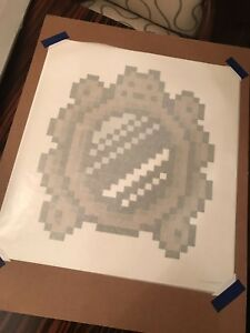 Invader Versailles Black Mirror Print OTI Exclusive #21100