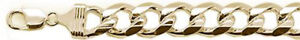 400-15MM Miami Yellow Gold Plated Curb Chain 925 Sterling Silver Made in Italy