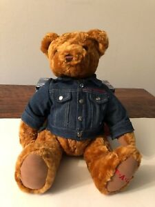 FAO Schwarz Bear with Denim Jacket 16 Inches $12.99