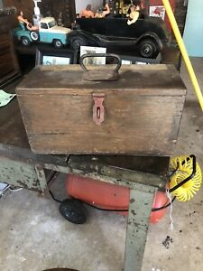 B And O Rail Road Police Ammo Box Wooden Machinist Tool