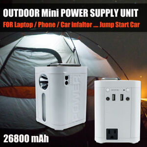 Outdoor Camping Portable Power Supply unit 26800mAh For Laptop wAC output 110V