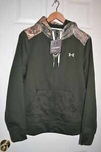Under Armour Storm NWT Full Zip Hoodie Womens RealTree Camo Hunting L