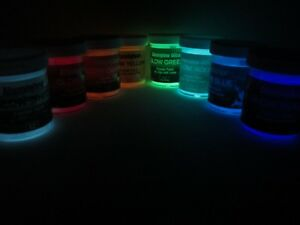 Alumiglow Heat Cured Glow Powder Paint for Tungsten Ice Fishing Jigs + More