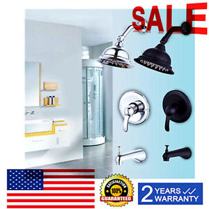 Contemporary Rain Shower Faucet Brushed Nickel  Oil Rubbed Bronze Ceramic Valve