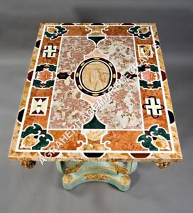 Gorgeous Marble Pietra Dura Inlaid Design Living Room Table Top Patio Decor E598