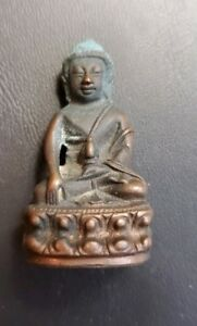 ANTIQUE THAI PHRA KRING WITH TEMPLE STAMP ON BASE
