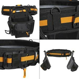 TOUGHBUILT Tool Belt 2 Pouch Set Carpenter Electrician Construction Hammer Loop