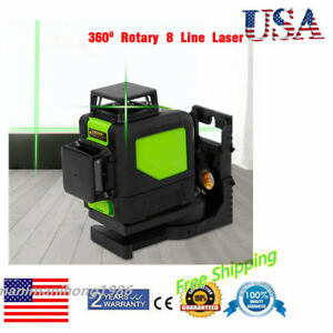 8 Lines Green 360 Degree Rotary Laser Level Self Leveling Cross for Construction