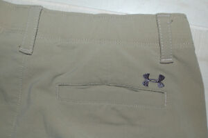 Under Armour Boys--Youth Large--Match Play Golf Pants-Beige--Elastic Waist Band