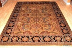9' X 12' FINE QUALITY Handmade Persian Design Wool Rug. very thick durable