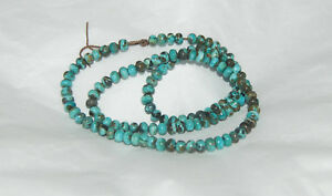 CARICO LAKE TURQUOISE RONDELLE BEADS - 18