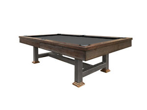 Winchester Pool Table 8' Dark Weathered Oak with Steel Legs FREE Shipping