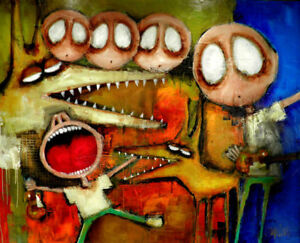 MADE TO ORDER - Contemporary MODERN painting ORIGINAL POP ART by SLAZO