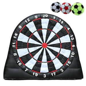 High Giant Game Soccer Balls Inflatable Dart Board With 220V Air Blower 4M13ft