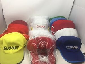 Lot of 43 Nike Rare Featherlight Dri-fit Running Spell Out Countries Hat Cap M3b