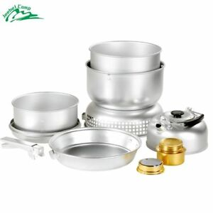 Windproof Alcohol Stove 10 pcs/set Backpack Tableware Outdoor Cookware Pot