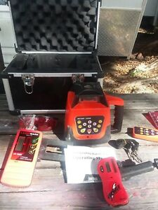 Auto Self-Leveling Rotary Laser Level kit 500M wCase Construction Laser