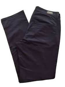 Micheal Kors Midnight Navy Blue Designer Pants Classic Fit 34 34 Stretch