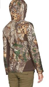 Under Armour H Storm Real Tree Camo Hunting Fur Lined Hoodie Women Jacket Size M