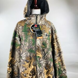 Under Armour Stealth Fleece Realtree Control Scent Jacket Hoodie 2XL 1283119 947