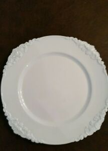 Farmhouse Chic White Charger Plates. New set of 8 Free Ship