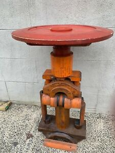 STEAMPUNK ANTIQUE INDUSTRIAL WOOD FOUNDRY MOLD TABLE FROM  WWII H.S. KENT 1944