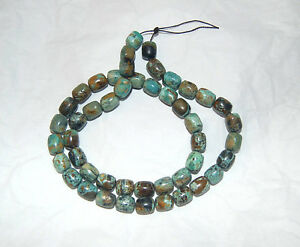 RARE - MCGUINNESS MCGINNIS TURQUOISE BARREL BEADS - 18