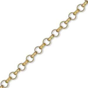 Jewelco London Mens 9ct Gold Engraved Cast Belcher 7.8mm Chain Necklace