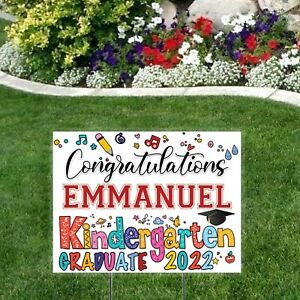 Kindergarten Graduate Class of 2020 Personalized Yard Sign