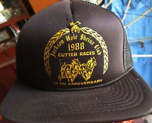 NEW True Vtg 80s JACKSON HOLE WY 1988 CUTTER RACES Mesh trucker Skater Cap OSFA