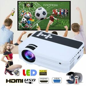 7000 Lumens HD 1080P Home Theater Projector 3D LED Portable SD HDMI VGA USB New